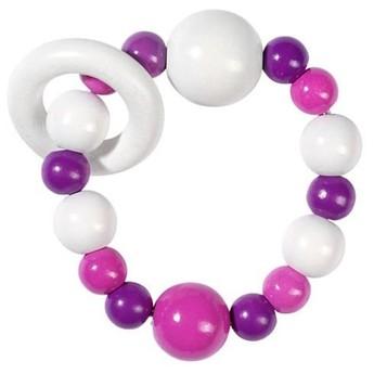 Pro nejmenší - Elastická hračka do ruky, růžová fialová