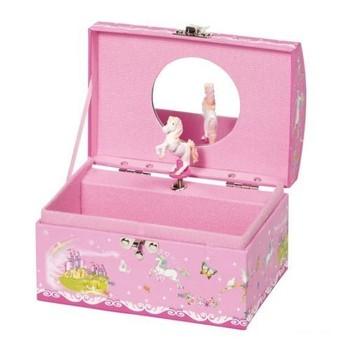 Pro holky - Hrací skříňka šperkovnice – Koník, Labutí jezero