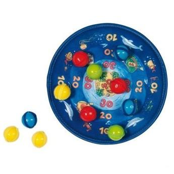 Hry a hlavolamy - Terč na suchý zip s 12 míčky – Oceán