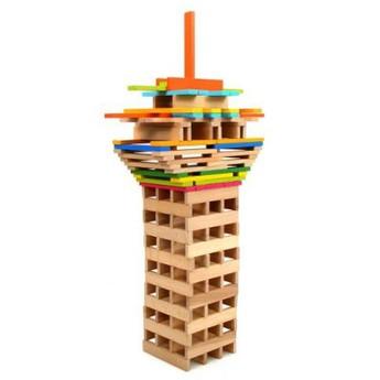 Kostky a stavebnice - Dřevěné kostky 150 ks