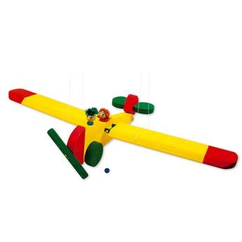 Dětský pokojíček - Dřevěné závěsné letadlo