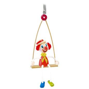 Dětský pokojíček - Klaun na houpačce - na pružině