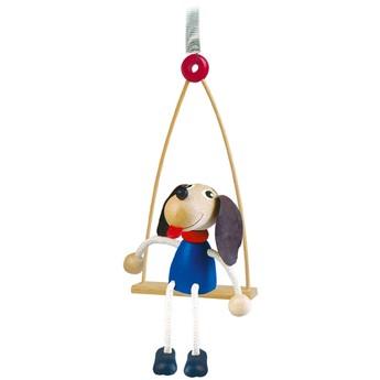 Dětský pokojíček - Pes na houpačce na pružině