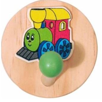 Dětský pokojíček - Jednověšák dřevěný Mašinka