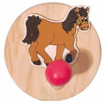 Dětský pokojíček - Jednověšák dřevěný Kůň
