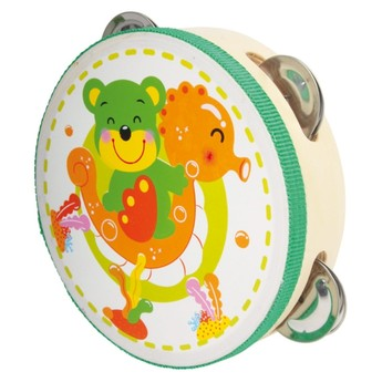Dětské hudební nástroje - Tamburína Medvídek