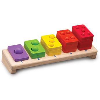 Motorické a didaktické hračky - Skládačka barevné počty