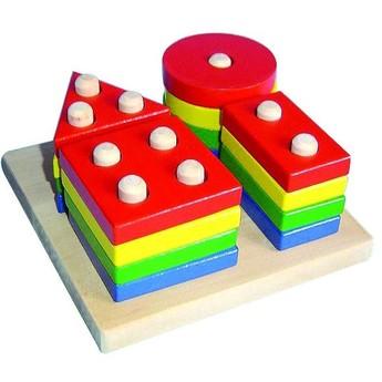 Motorické a didaktické hračky - Geometrické tvary - 4 druhy
