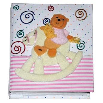 Dětský pokojíček - Dětské fotoalbum Medvídek růžový