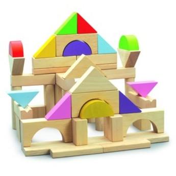 Kostky a stavebnice - Dřevěné stavební kostky 50 ks