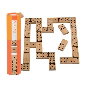 Dřevěné domino v tubě