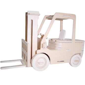3D Puzzle - Vysokozdvižný vozík přírodní