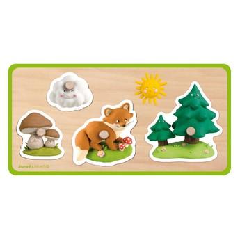 Puzzle - Vkládací puzzle - V lese