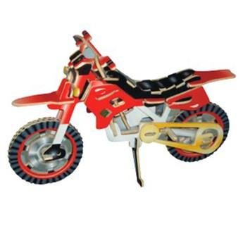 Puzzle - 3D Puzzle - Terénní motorka barevná