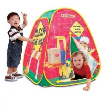 Dětský pokojíček - Dětský stan Bořek stavitel