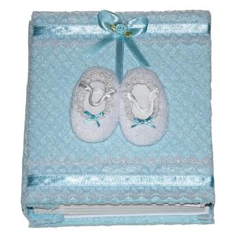 Dětský pokojíček - Dětské fotoalbum Dětské papučky modré