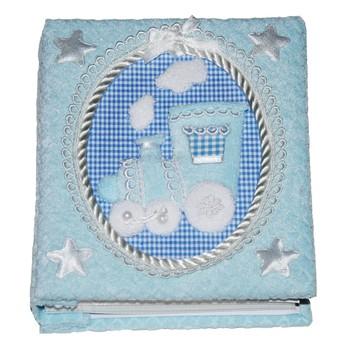 Dětský pokojíček - Dětské fotoalbum Modrý vláček