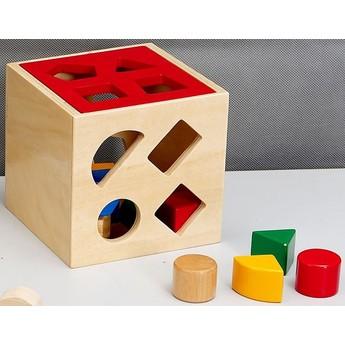 Motorické a didaktické hračky - Vkládací krabička - Geometrické tvary