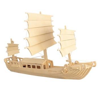 Puzzle - 3D Puzzle - Čínská plachetnice