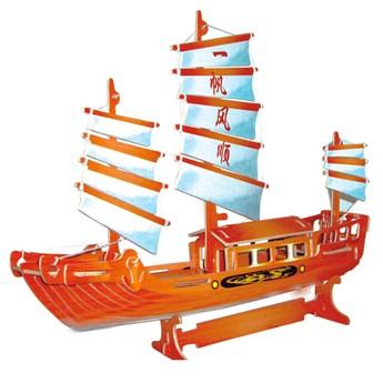 3D Puzzle - Čínská plachetnice barevná