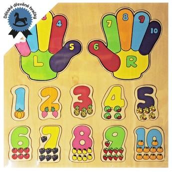 Puzzle - Dřevěné puzzle Učíme se počítat