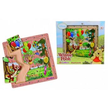 Puzzle - Vkládací puzzle Medvídek Pú 6 dílků