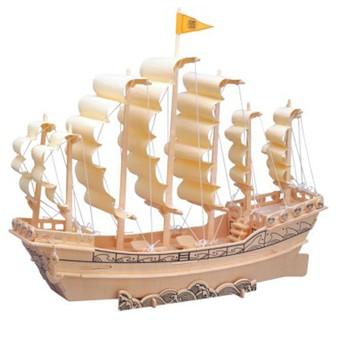 Puzzle - 3D Puzzle - Loď plachetnice