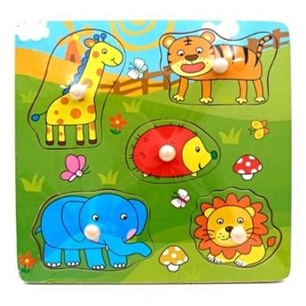 Puzzle - Dřevěné puzzle Divoká zvířata
