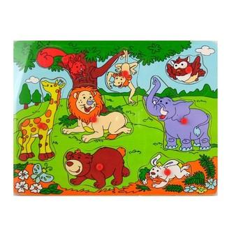Puzzle - Dřevěná vkládačka Džungle