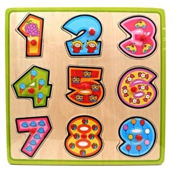 Dřevěné puzzle Číslice
