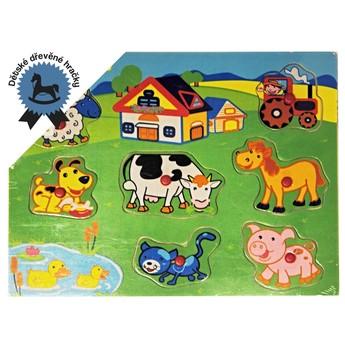 Puzzle - Puzle na desce Farma