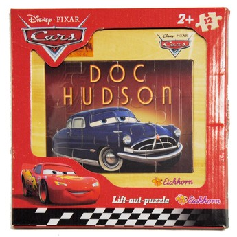 Dřevěné puzzle Cars 12 dílků - Doktor Hudson