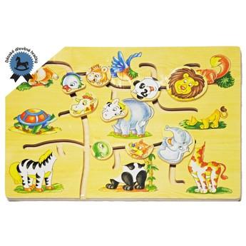 Motorické a didaktické hračky - Dřevěné puzzle Zvířátka