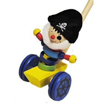 Pro nejmenší - Tlačící hračka - Pirát