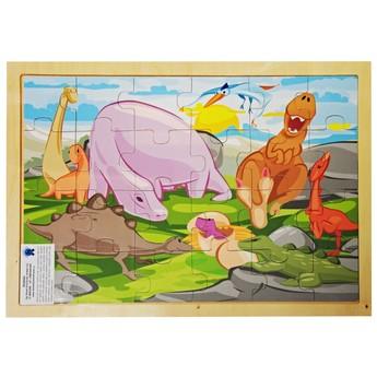 Puzzle - Dřevěné puzzle Dinosauři 24 dílků