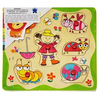 Puzzle - Dřevěné puzzle Holčička