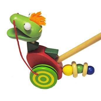 Pro nejmenší - Tlačící hračka - Dinosaurus