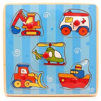 Puzzle - Dřevěné puzle s úchyty Doprava