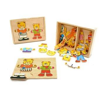 Puzzle - Puzzle šatní skříň 2 medvědi