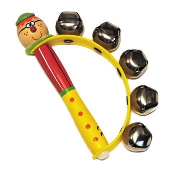 Dětské hudební nástroje - Rolničky do ruky - Kluk s brýlemi