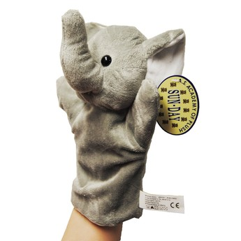 Divadla, loutky, maňásci - Maňásek na ruku Slon šedý