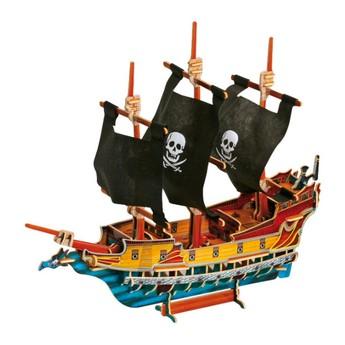 Puzzle - 3D Puzzle - Pirátská loď
