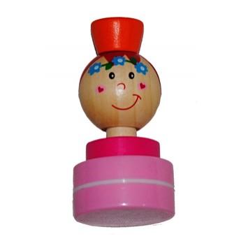 Výtvarné a kreativní hračky - Dřevěné razítko Víla - růžová tuš