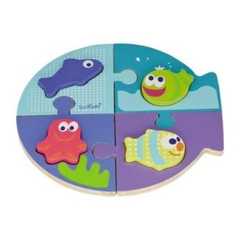 Puzzle - Dřevěné vkládací puzzle Moře