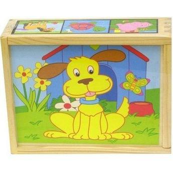 Dřevěné kostky Domácí zvířata 2x4