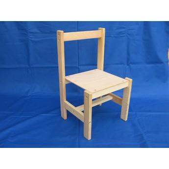 Školní potřeby - Dřevěná židlička k tabulím 2v1