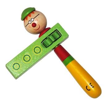 Dětské hudební nástroje - Dětská řehtačka Chlapeček s brýlemi