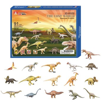 Puzzle - 3D Puzzle - Dinosauři 16 ks