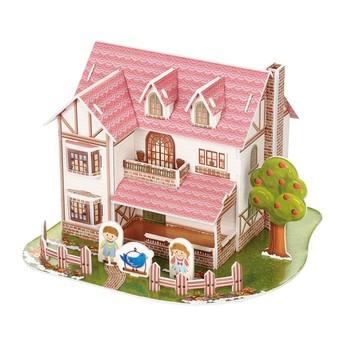 Puzzle - 3D Puzzle - Dům modrý pták
