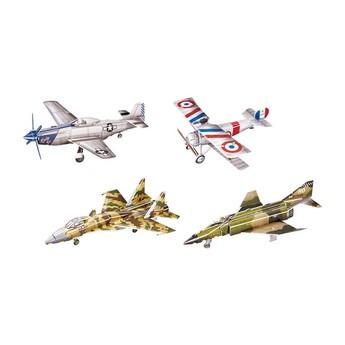Puzzle - 3D Puzzle - Historická letadla, 4 ks